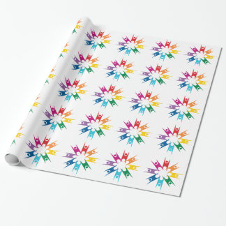 Rainbow Ring of Humanists Wrapping Paper