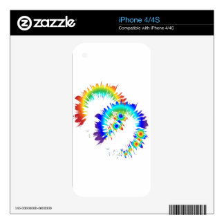 rainbow rings decals for iPhone 4