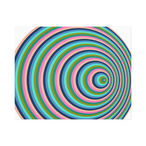 Rainbow rings impresiones en lona estiradas