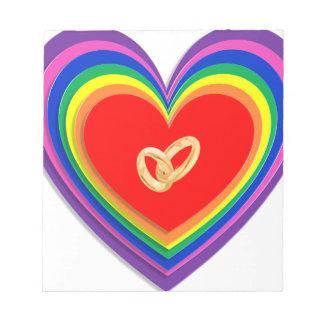 Rainbow Rings Notepad