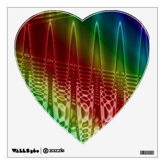 Rainbow Ripple Heart Wall Decal