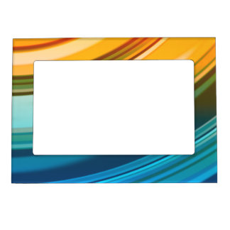"Rainbow Ripples 5""x7"" Magnet Picture Frame"