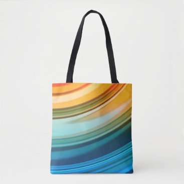 kellygalloway Rainbow Ripples All-Over-Print Tote Bag