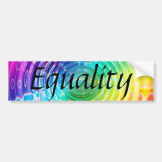 Rainbow Ripples Bumper Sticker