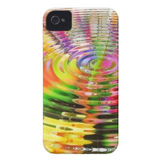 Rainbow Ripples Case-Mate iPhone 4 Case