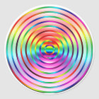 Rainbow Ripples Classic Round Sticker