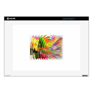 "Rainbow Ripples Decals For 15"" Laptops"