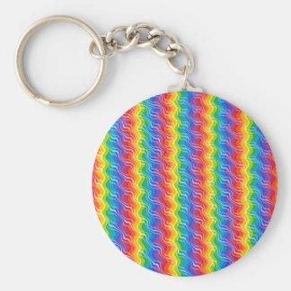 Rainbow Ripples Keychain