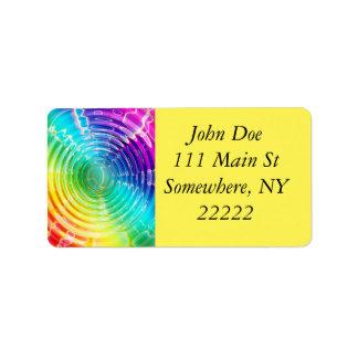Rainbow Ripples Address Label