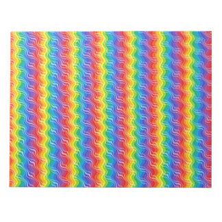 Rainbow Ripples Notepad