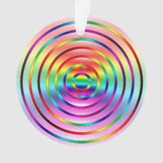 Rainbow Ripples Ornament