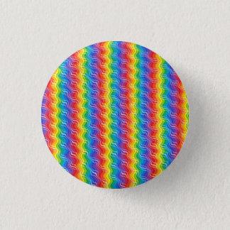 Rainbow Ripples Pinback Button