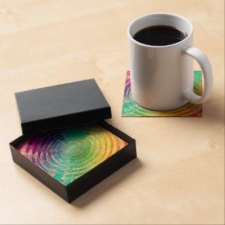 Rainbow Ripples Beverage Coasters