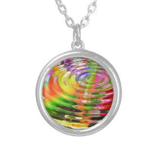 Rainbow Ripples Silver Plated Necklace