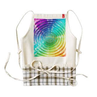 Rainbow Ripples Zazzle HEART Apron