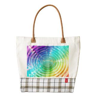 Rainbow Ripples Zazzle HEART Tote Bag