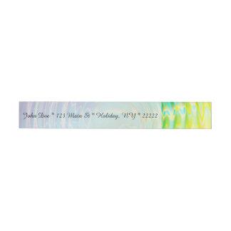 Rainbow Ripples Wraparound Address Label