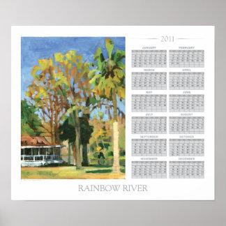 Rainbow River calendar Poster