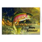Rainbow River Trout Jumping Retirement Card