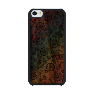 Rainbow road bikes carved® walnut iPhone 5C case
