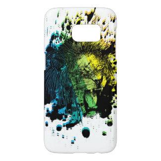 Rainbow Roaring Lion on White Samsung Galaxy S7 Case