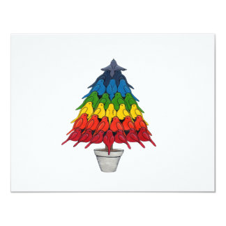 Rainbow Robins Christmas Tree Announcements