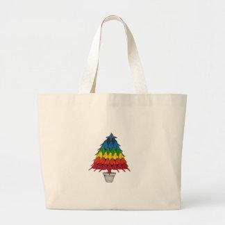 Rainbow Robins Christmas Tree Canvas Bags