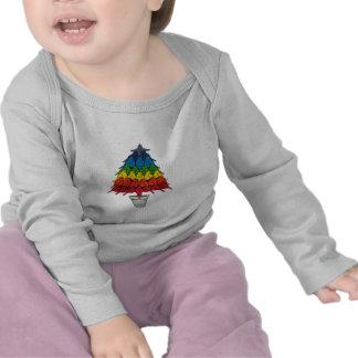 Rainbow Robins Christmas Tree Tshirt