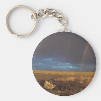 Rainbow Rock Keychain