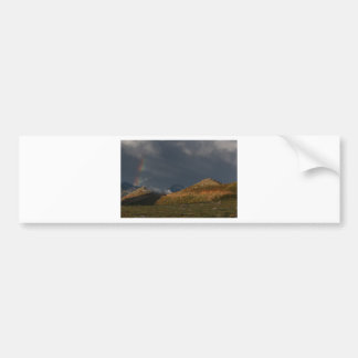 Rainbow Rocky Mountain National Park Bumper Sticker