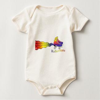 Rainbow Rollerskates Baby Bodysuit