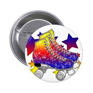 Rainbow Rollerskates Button