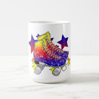 Rainbow Rollerskates Classic White Coffee Mug