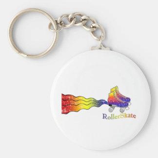 Rainbow Rollerskates Keychain