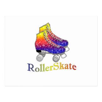 Rainbow Rollerskates Postcard