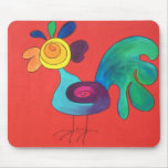 Rainbow Rooster Mouse Pad