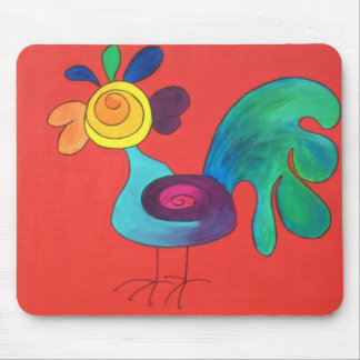 Rainbow Rooster Mouse Pads
