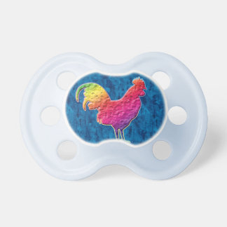 Rainbow rooster BooginHead pacifier