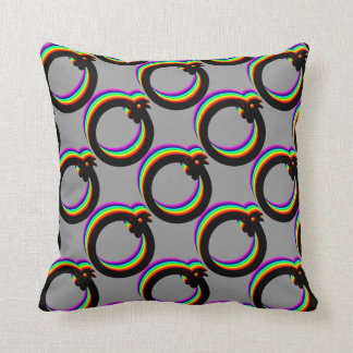 Rainbow rooster pillow