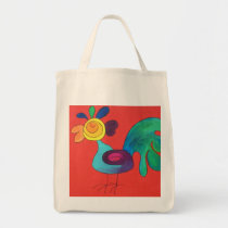 Rainbow Rooster Tote Bag