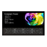 Rainbow Rose 11 Business Card Template