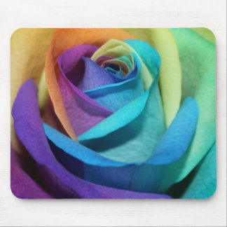 Rainbow Rose Blossoms Park Party Shower Love Art Mouse Pad