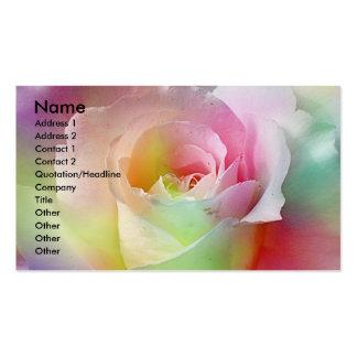 Rainbow,Rose business card