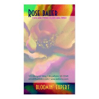Rainbow Rose Business Card