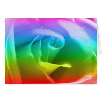 Rainbow Rose Card