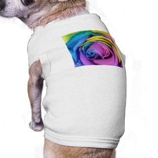 Rainbow Rose Dog T-shirt