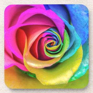 Rainbow Rose Drink Coaster