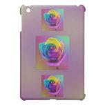 Rainbow Rose Flower iPad Mini Cover