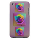 Rainbow Rose Flower iPod Case-Mate Cases