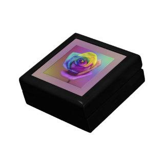 Rainbow Rose Flower Keepsake Box